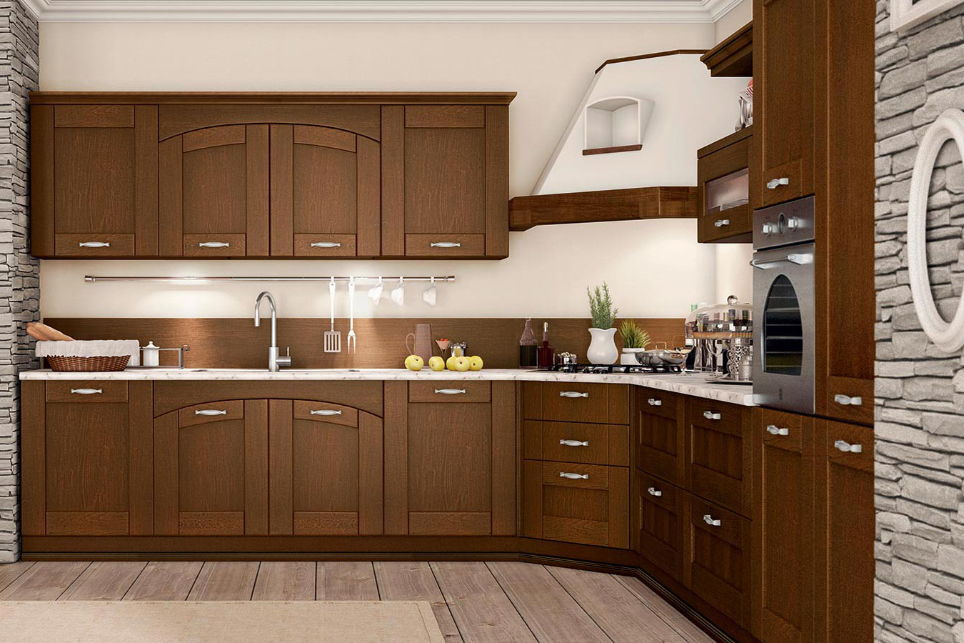 Cucina componibile classica beautiful ue cucine with - Cucine etniche arredamento ...