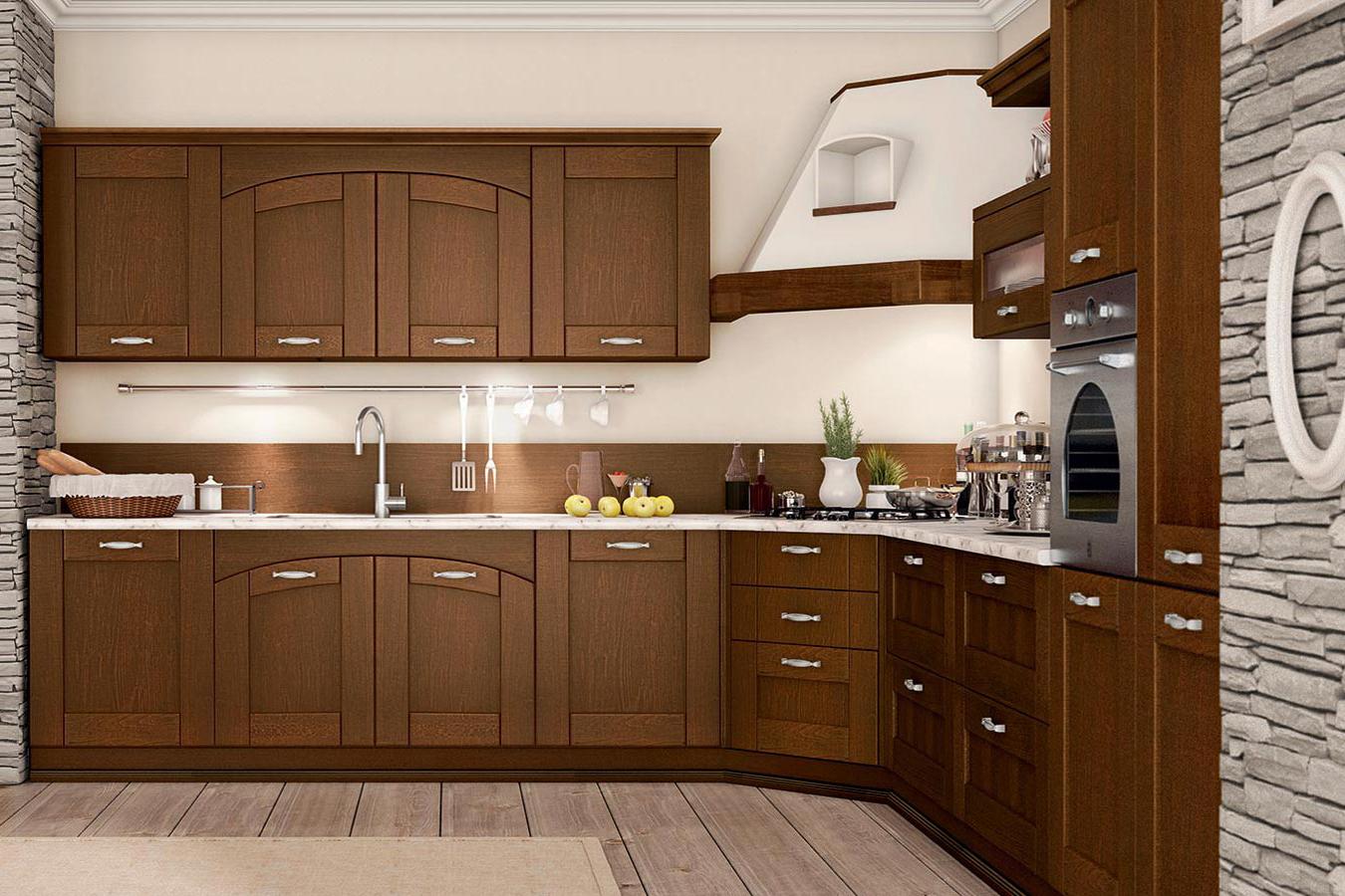 Arredo3 cucina agnese 3 classica componibile legno vetro - Arredamento cucina classica ...
