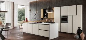 Cucina moderna bianca Asia Factory