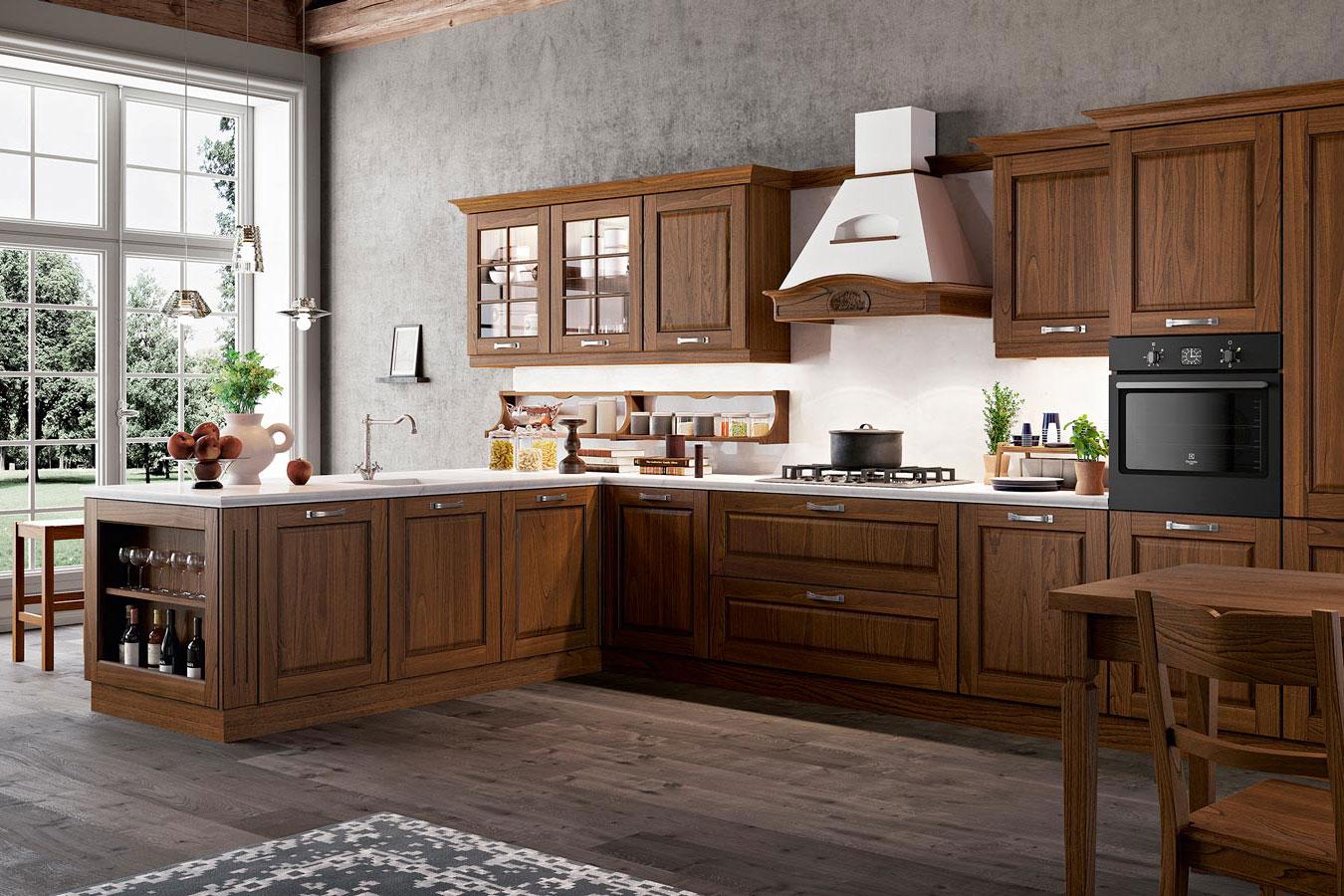 Cucina classica asolo di arredo3 righetti mobili novara for Mobili arredo cucina