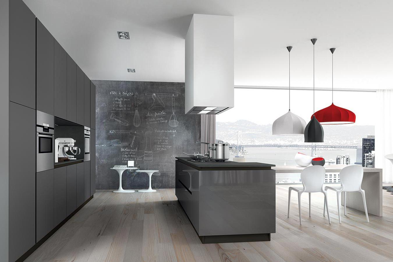 Cucina glass di arredo3 righetti mobili novara for Arredo cucina moderna