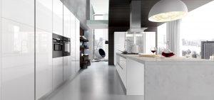 Cucina moderna bianca Glass di Arredo3