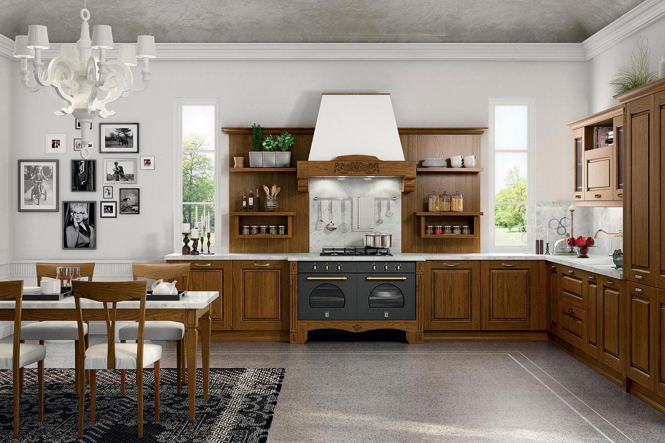 Cucina classica verona di arredo3 righetti mobili novara for Cucine classiche arredo 3