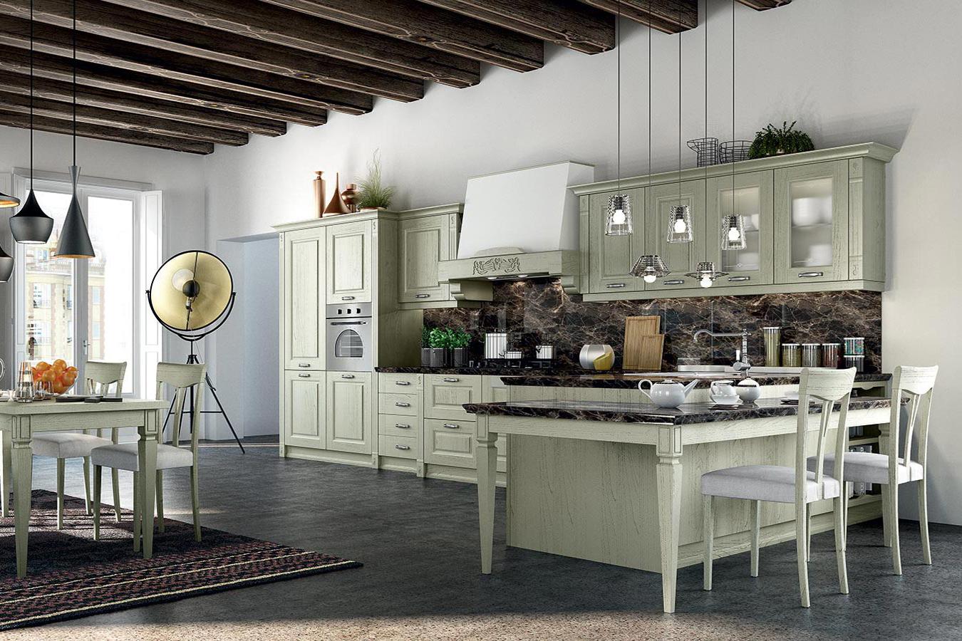 Cucina classica verona di arredo3 righetti mobili novara for Cucina verona arredo 3