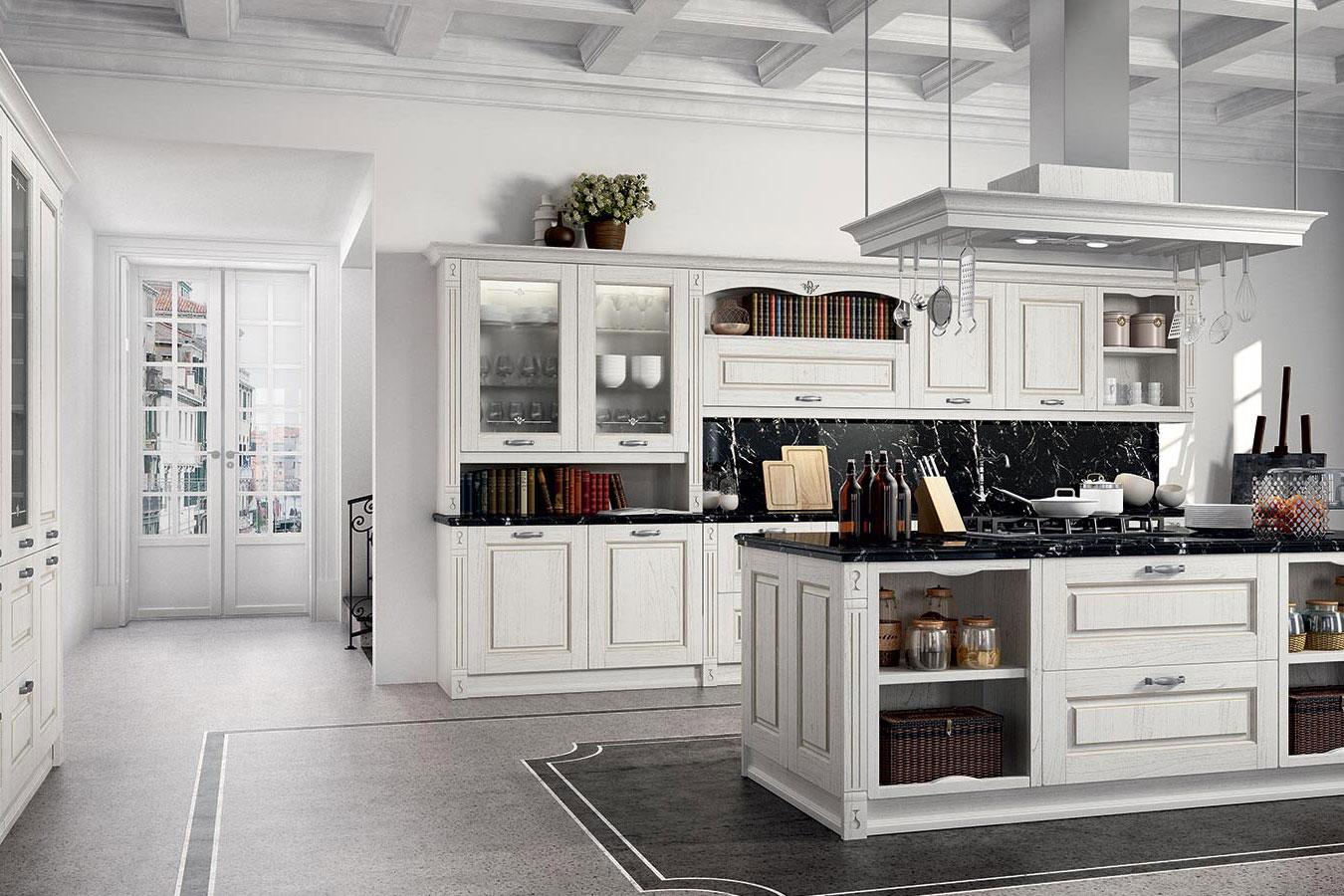 Mobili di cucina veronica in legno chiaro di cucine lube for Idee arredo cucina classica