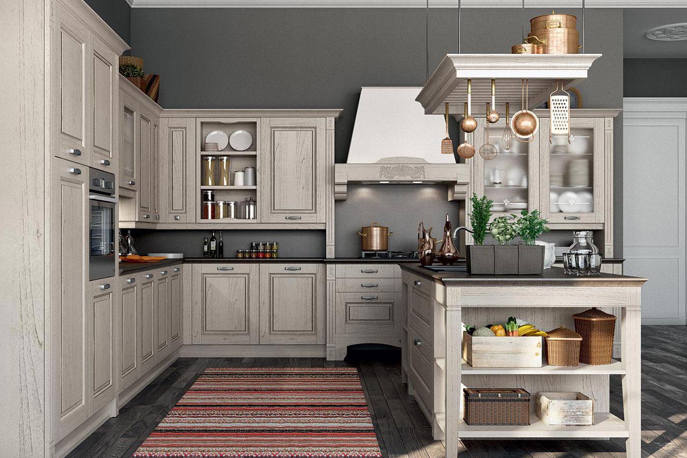 Cucina classica verona di arredo3 righetti mobili novara for Cucina arreda