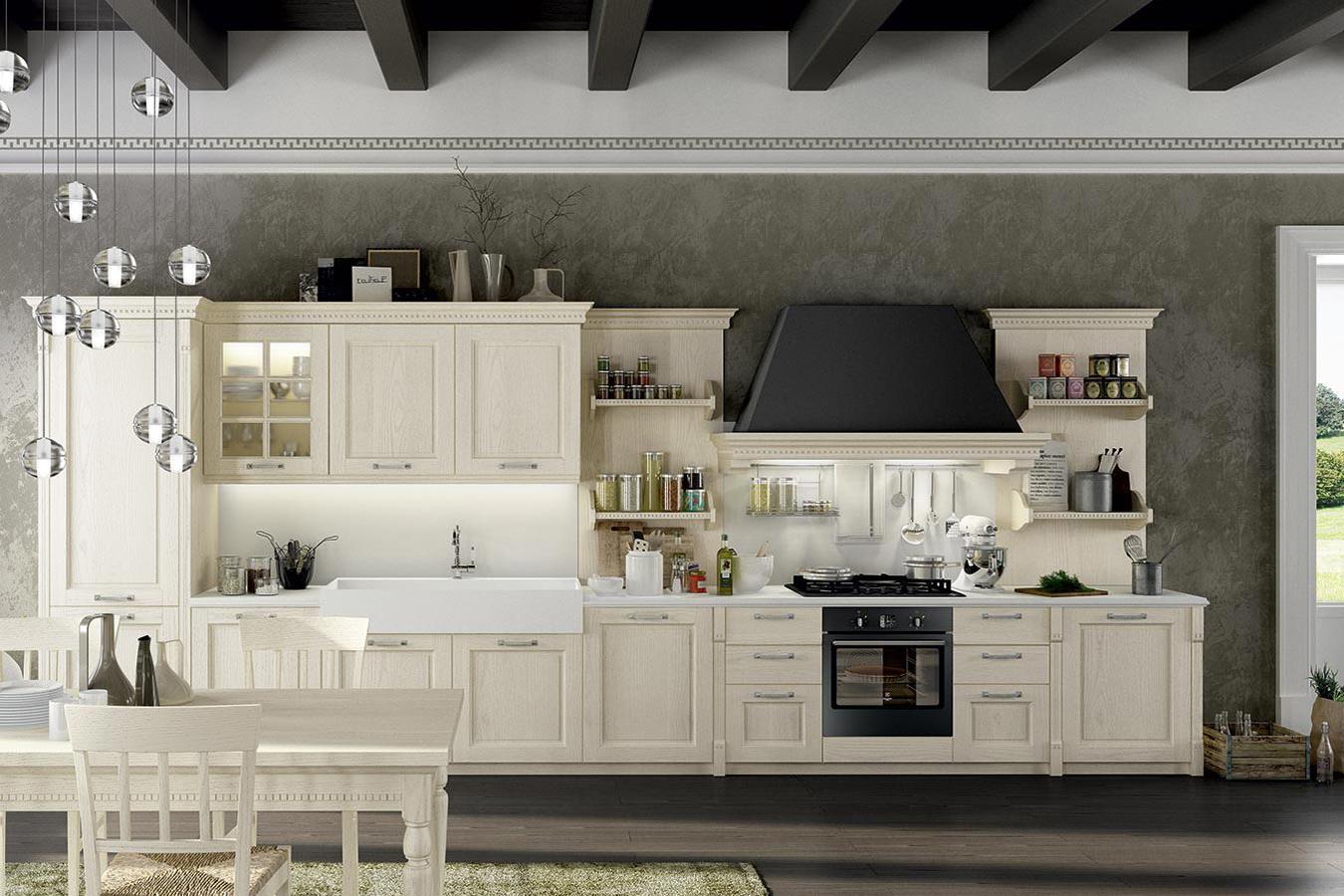 Arredamento Cucine Piemonte.Cucina Classica Virginia Di Arredo3 Righetti Mobili Novara