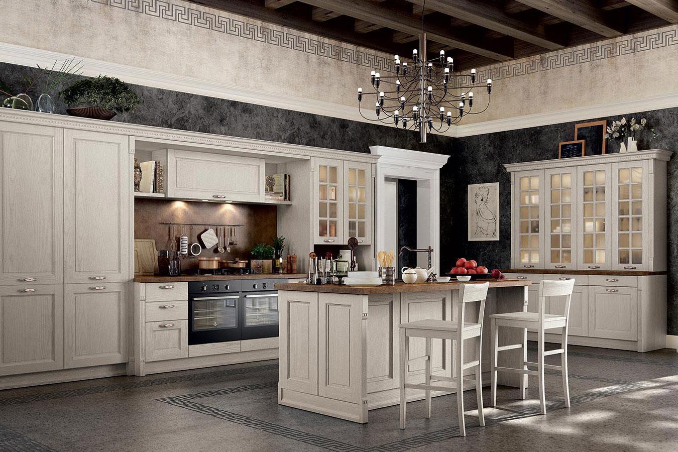 Cucina classica virginia di arredo3 righetti mobili novara for Mobili arredo cucina