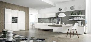 Cucina moderna bianca Wega di Arredo3