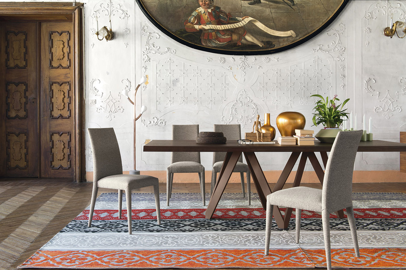 Calligaris-tavolo-Cartesio-moderno-design-legno-basamento-metallo ...