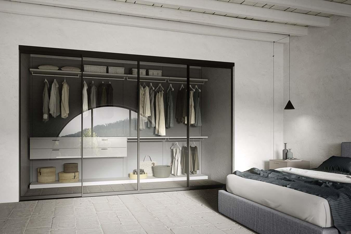 Cabina armadio cinquanta3 righetti mobili novara for Armadi design moderno