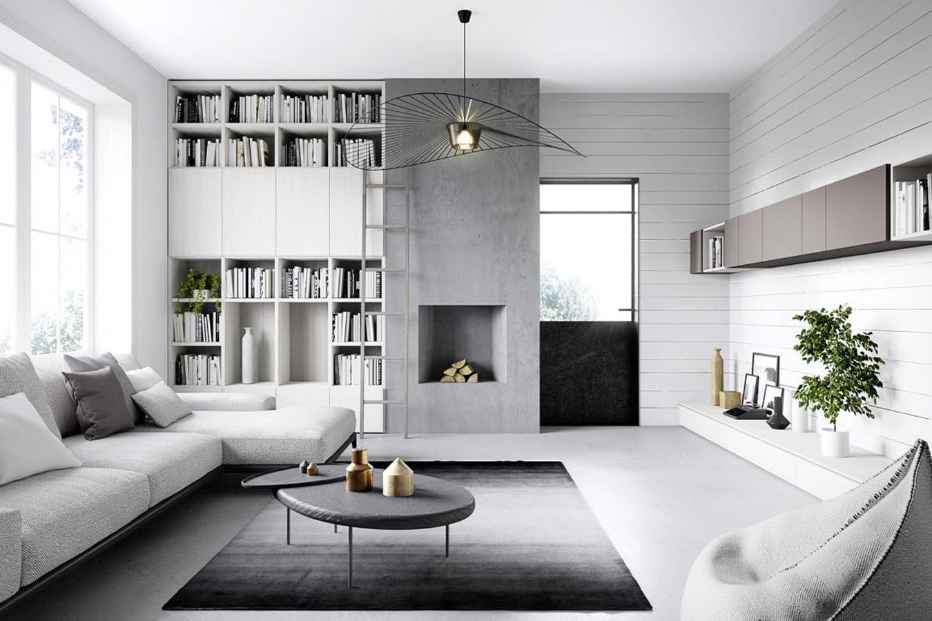 Soggiorni e librerie di cinquanta3 righetti mobili novara for Arredamento soggiorno