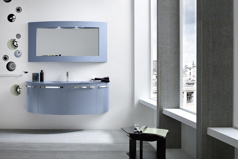 Compab bagno b colors composizione b201 57 mobile lavabo moderno arredobagno arredamento interni - Mobili bagno compab ...