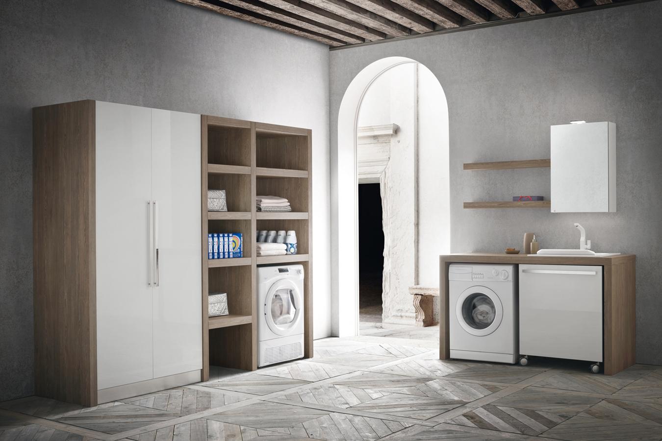 Arredo bagno lavanderia italiana righetti mobili novara - Armadi per bagno classici ...