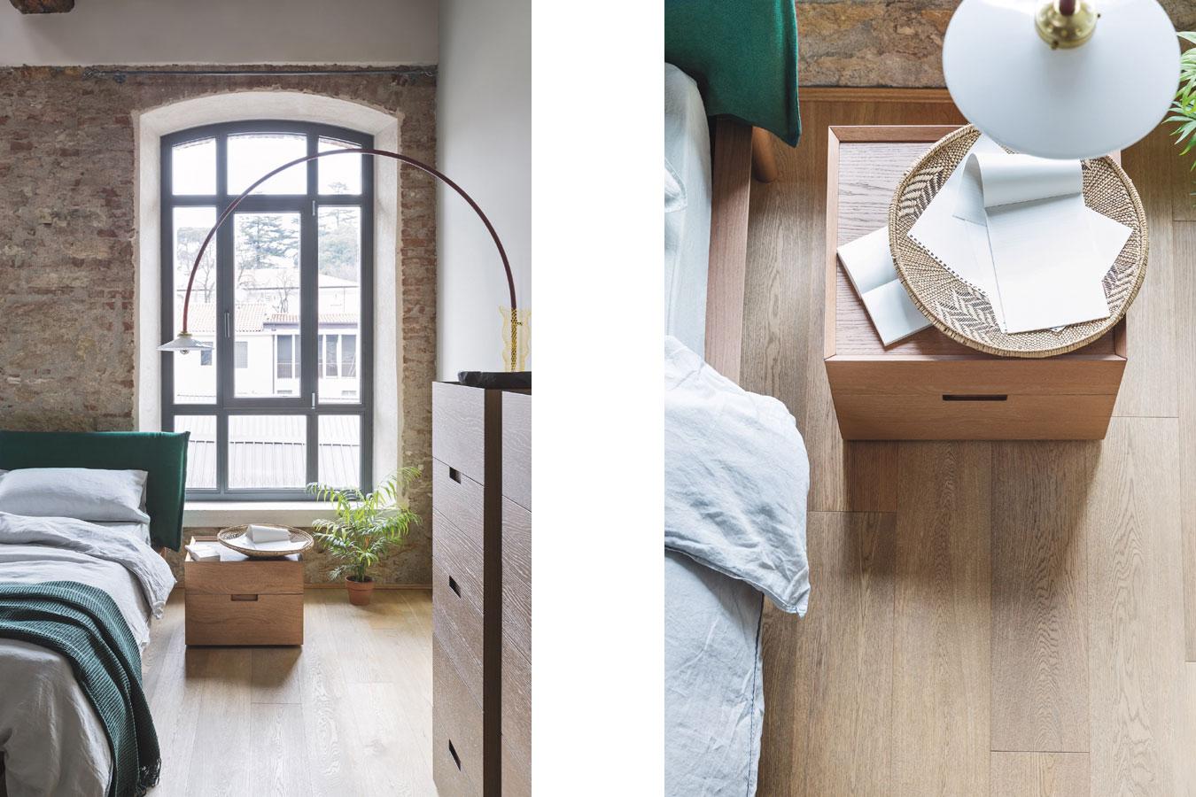 Comodini in legno chiaro Quarantacinque di Novamobili per la camera da letto