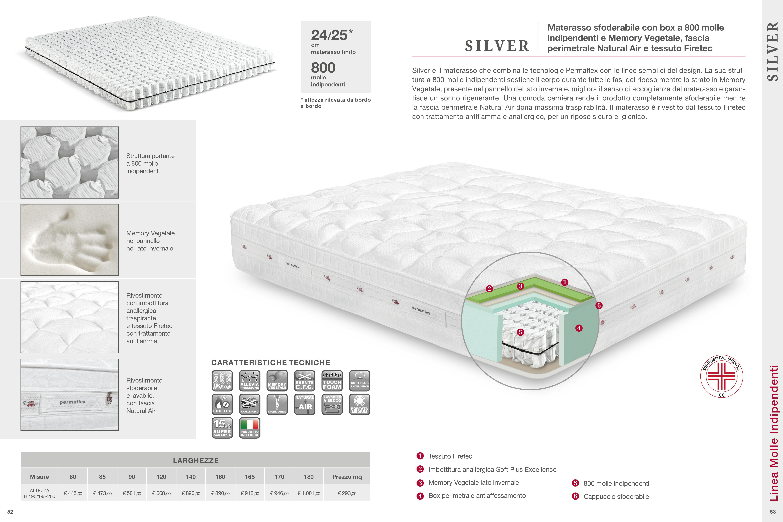 Materassi Permaflex Memory Piuma.Permaflex Materasso Singolo Casa