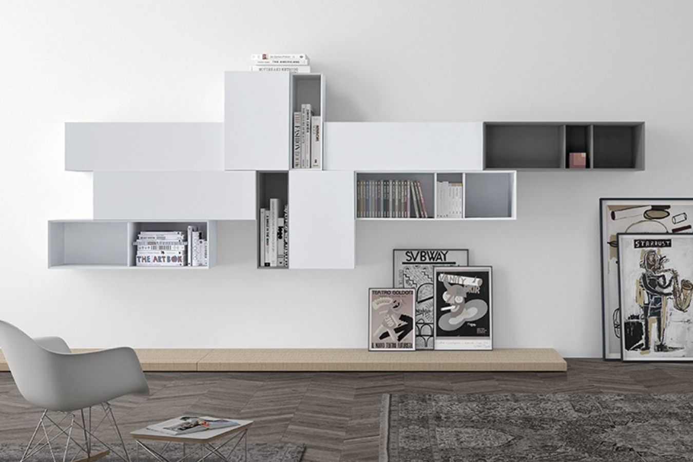 Soggiorni e librerie righetti mobili novara for Arredamento lussuoso