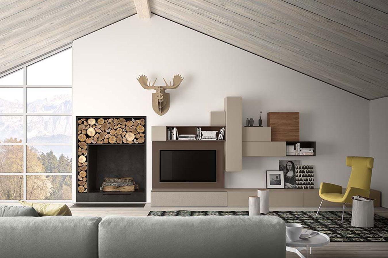 Soggiorno spazio di pianca righetti mobili novara for Soluzioni soggiorno