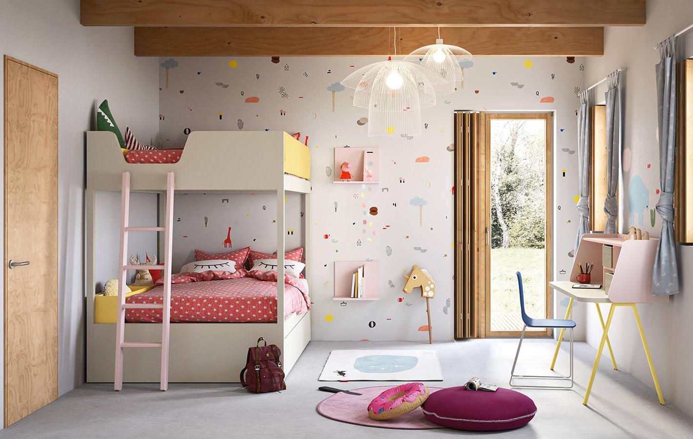 Letti a castello delle camerette Nidi Kids di Battistella