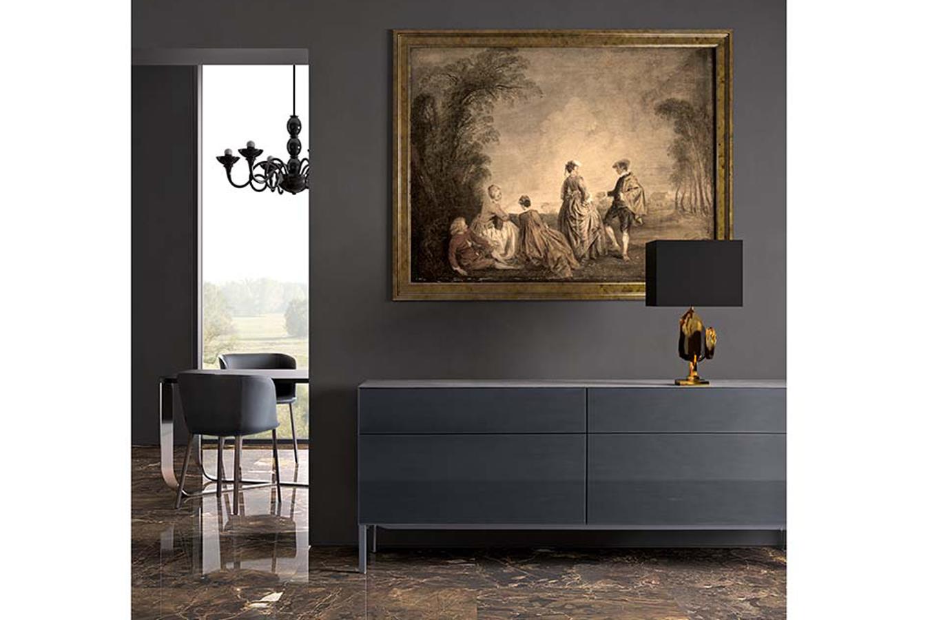 Madia Norma di Pianca in pietra e vetro da righetti mobili Novara Piemonte