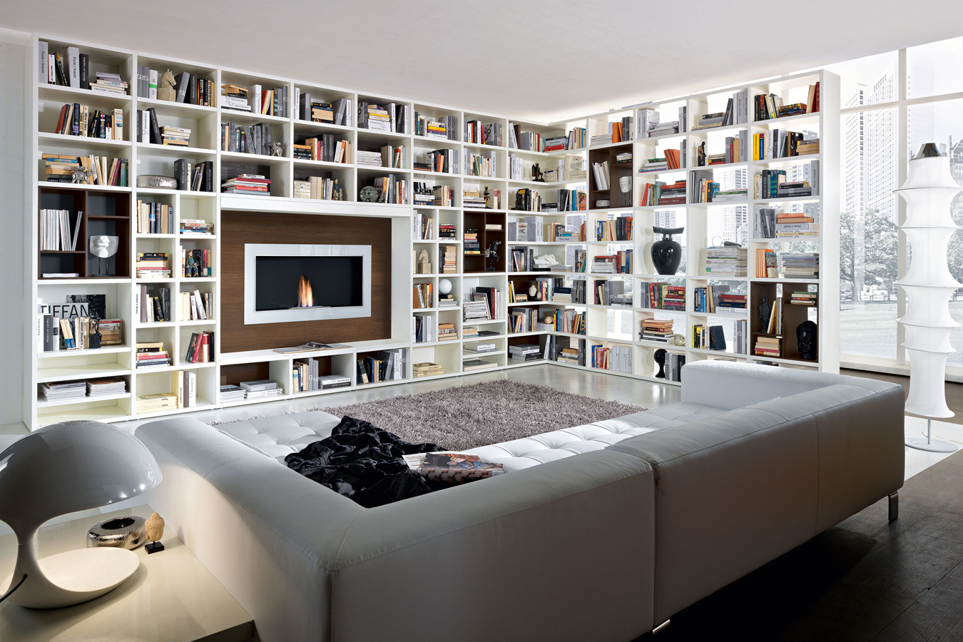 Libreria Bianca Arredamento.Kiko Arredamenti Soggiorno Libreria Bianca Divisorio