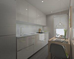 La cucina bianca è perfetta per gli ambienti poco luminosi