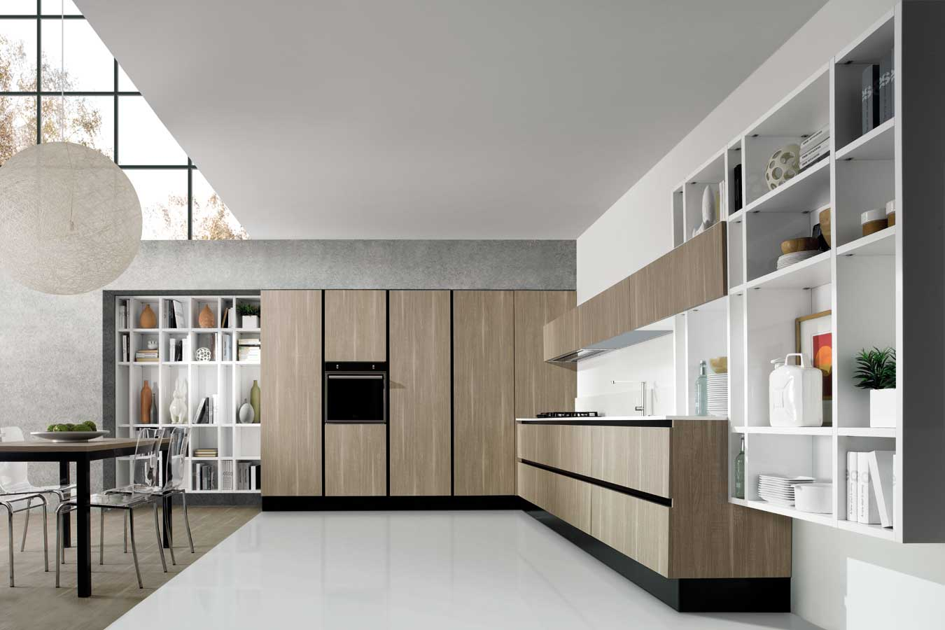 Cucina Legno E Bianco cucina-legno-bianco-erika-aran - righetti mobili novara